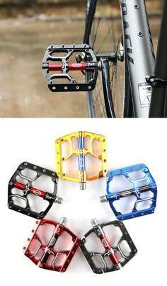 "1 PAIR FOLDING BIKE PEDALS FOLDERS COMMUTING MTB ROAD BICYCLE FLAT PEDALS 9//16/"""