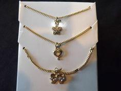 "Genuine Crystal 18"" Pendants Set Perfect Gift For Mom Wife Girlfriend Grandma"