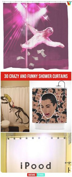 30 Crazy and Funny Shower Curtains That Will Make You Giggle – bemethis 30 Crazy and Funny Shower Curtains That Will Make You Giggle 30 Crazy and Funny Shower Curtains That Will Make You Giggle House Cleaning Humor, Dog Cleaning, Mattress Cleaning, Bathroom Cleaning, Cleaning Hacks, Clean Shower Floor, Funny Shower Curtains, Mattress Stains, Cleaning Schedule Printable
