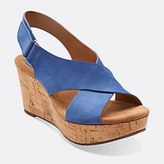 Customer-favorite Caslynn women's sandals from Clarks® Artisan are the most comfortable platform wedges. An Ortholite® footbed provides cushion comfort and moisture management. These perfect evening sandals work equally well with a little black dress or denim.