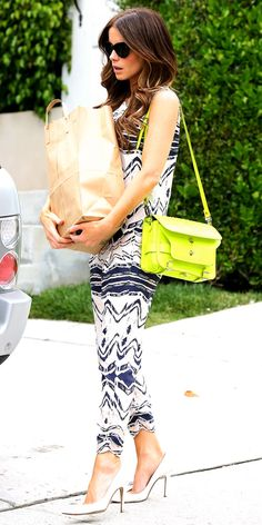 Kate Beckinsale's Summer Style: Printed Jumpsuit