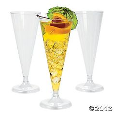 $12.50 for 25 clear champagne flutes