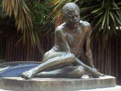 """Statue of """"The Slave"""", by Francisco Cafferata in Buenos Aires, Argentina"""