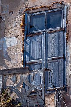 Chania, Crete, Greece, blue door, window, decay, wall, history, architechture, beauty, photograph, photo