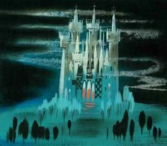 Mary Blair concept art for Cinderella   via professorenidgumby.tumblr.com