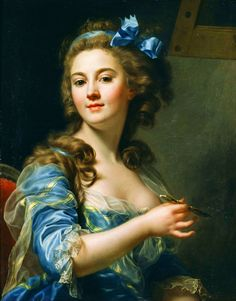 Marie-Gabrielle Capet - Self-Portrait, 1783.  Capet's name appeared as one of the 21 women who displayed works in the Salon of 1791, immediately after the French Revolution. In addition its light Rococo sensuality, her Self-Portrait (created when the artist was 22 years old) also reveals a direct, simple expression that prefigures the styles of the coming age.