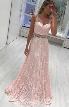 New Light Pink Straps Sweetheart Long Prom Dresses #prom #promdress #dress #eveningdress #evening #fashion #love #shopping #art #dress #women #mermaid #SEXY #SexyGirl #PromDresses