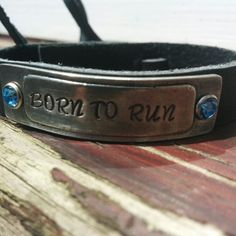 The Beautiful Born To Run #BruceBuds wristband and necklace look cool and feel proud this summer http://www.brucebuds.com/product/pewterwristband