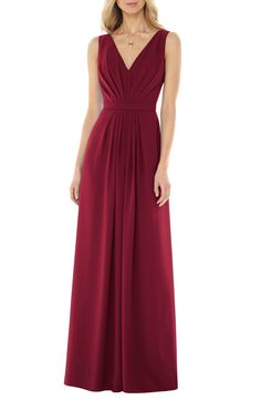 Social Bridesmaids V-Neck Georgette Gown available at #Nordstrom