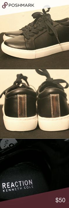 Kenneth Cole Reaction Joey Sneakers Brand new without tags Kenneth Cole Reaction sneakers. Create a classic casual look with these leather lace-up sneakers. Has a thick sole, which is looking to be very popular this season. Kenneth Cole Reaction Shoes Sneakers