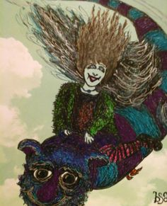 Check out this item in my Etsy shop https://www.etsy.com/listing/211227104/girl-on-flying-monster