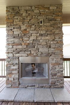 Profile Southern Ledge Color Suede Canyon Stone Veneer Fireplace Concrete
