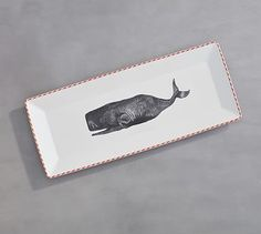 Nantucket Whale Serve Platter #potterybarn