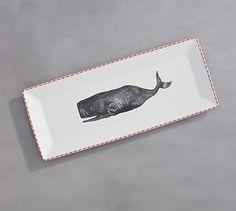 Nantucket Whale Serve Platter #potterybarn