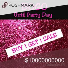 BOGO SALE Let's Celebrate!! Last Day Help me celebrate my posh party today w/ the best sale I've offered in months. My returning customers LOVE my BOGO sales but now, it's open to all poshers. BOGO for all but it's limited to one BOGO. Returning customers limit TWO BOGO deals per transaction.  Let's chat if u want more:). Sale ends July 13th, after the party. Posh Party is noon is the postmark app on July 13th.  Lowest item free. *no swimwear sorry. BOGO at asking price please Dresses