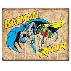 Batman and Robin DC Comics Retro Tin Sign