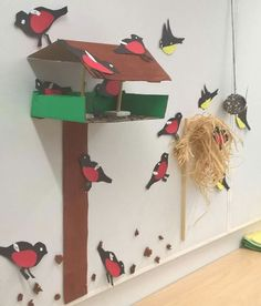 In the kindergarten TOP Hands of children's birds. Cd Crafts, Preschool Crafts, Diy And Crafts, Paper Crafts, Class Decoration, School Decorations, Animal Crafts For Kids, Art For Kids, Farm Animals Preschool