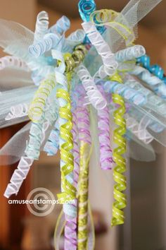 How to get ribbons super curly / how to make a fairy wand