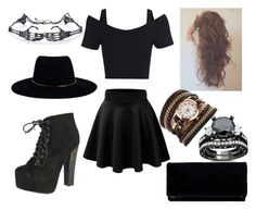 """""""Party In Black"""" by jordanarney ❤ liked on Polyvore featuring Breckelle's and Zimmermann"""