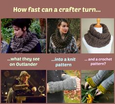 Some patterns for us Outlander fans to knit and crochet while wait for the next season to start.
