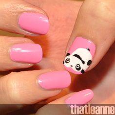 So cute :)   thatleanne: Tare panda nail art http://thatleanne.blogspot.com/