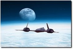 Cutting Edge by Peter Chilelli Lockheed SR 71 Blackbird Aviation Art Print… Military Jets, Military Aircraft, Air Fighter, Fighter Jets, Old Planes, Aircraft Pictures, Fighter Aircraft, Aviation Art, Drones