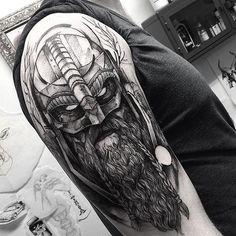 Viking! Thank you Nikolaj . @wickedworkshoptattoo #electricink