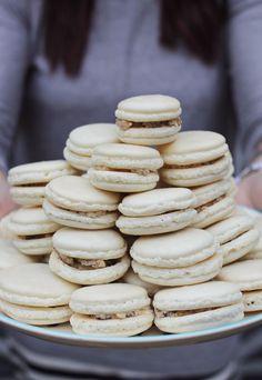 BEST cookie dough macarons recipe ever via A Beautiful Mess