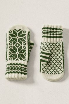 Lands' End Women's Nordic Mittens - Whimsy and Warm - I'd never lose my mittens if I had these!