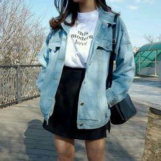 Korean Fashion: 20 Korean Looks for Inspiration and Moda coreana: 20 Looks coreanos para se inspirar e copiar Korean Fashion: 20 Korean Looks to Be Inspired and Copied - Tumblr Outfits, Swag Outfits, Cute Casual Outfits, Girl Outfits, Casual Korean Outfits, Korean Outfits School, Tumblr Clothes, Tumblr Ootd, Korean Spring Outfits