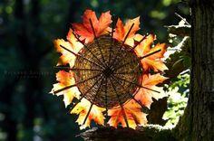 so beautiful, woven leaf sun mandala
