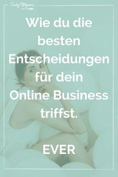 Wie du die besten Entscheidungen für dein Business triffst | Cindy Pfitzmann E-mail Marketing, Internet Marketing, Online Marketing, Drop Shipping Business, Motivation, Videos, Online Business, Mindset, Entrepreneur