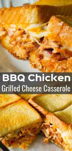 BBQ Chicken Grilled Cheese Casserole - This is Not Diet Food BBQ Chicken Grilled Cheese Casserole is an easy weeknight dinner recipe using shredded rotisserie chicken and loaded with BBQ sauce, bacon, cheddar and mozzarella. Crockpot Recipes, Diet Recipes, Cooking Recipes, Easy Recipes, Recipes With Bbq Sauce, Grilled Cheese Recipes Easy, Healthy Recipes, Easy Weeknight Dinners, Easy Meals