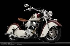 """""""The Chieftan"""" by Kiwi Indian Motorcycle Company http://www.facebook.com/pages/Indian-Chief-Legend/505680782803314 What id the difference beetween Indian and Harley? Harel is for sell Share the love :)"""