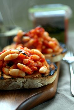 Beans on toast. (Minus the meat)