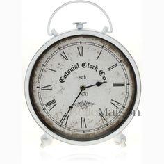 Zegar Colonial biały - BelleMaison.pl