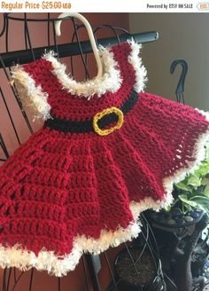 Newborn Miss Clause by CrochetbyCiCi on Etsy