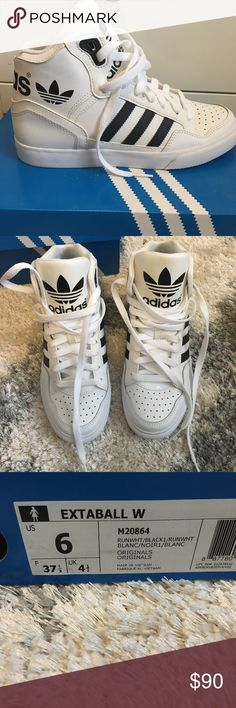 🔴Adidas original extaball Beautiful adidas shoes, worn once. Very rare!!! Size 6 but runs a little big, can fit 7. Out of stock and super hard to find! adidas Shoes