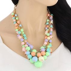 CMD by Mirna - Beads Hand Woven Decorated Simple Design statement necklace, less than US$ 8 !!!!