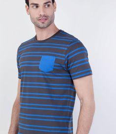 Camiseta Masculina Listrada - Lojas Renner