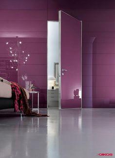 Luxe, sécurité, et en plus magnifique !!  Verre laqué lilas + Mur Système