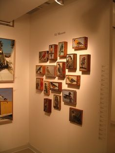 cigar boxes repurposed | Mixed Media on Cigar Boxes by Ed Masante  Idea for display