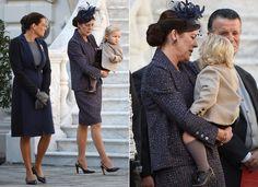 Día Nacional de Mónaco con aroma de bebés: Sasha Casiraghi se presenta a los monegascos de la mano de su abuela, la princesa Carolina