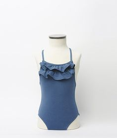 Traje de baño volantes azul | Nicoli
