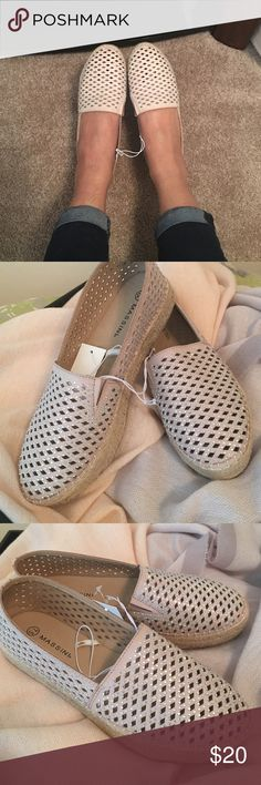 Massini Espadrilles with Rhinestone details Brand new with box. Size: 7.5 / Color: Natural MASSINI Shoes Espadrilles