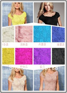 Sexy Floral Full Lace Short Sleeve Tee Shirt Stretch Scoopneck Blouse Top Cute-in T-Shirts from Apparel & Accessories on Aliexpress.com | Alibaba Group