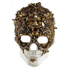 Skull Mask Gold  by Balocoloc Venetian Masks