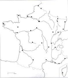 La France - carte muette des fleuves