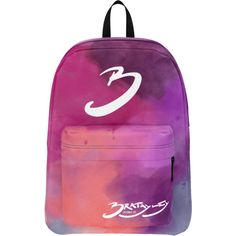 Bratayley Watercolor Backpack ($35) ❤ liked on Polyvore featuring bags, backpacks, day pack backpack, knapsack bag, backpack bags, purple bags and purple backpack