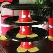 display small treats like brownies, rice krispies treats, cookies Fiesta Mickey Mouse, Mickey Mouse Baby Shower, Theme Mickey, Mickey Mouse Cupcakes, Mickey Y Minnie, Mickey Mouse Parties, Mickey Party, Mickey Mouse Treats, Disney Parties